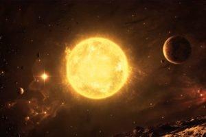 universe, Sun, Space art