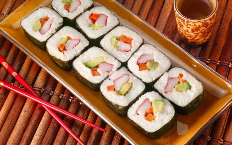 food, Sushi HD Wallpaper Desktop Background