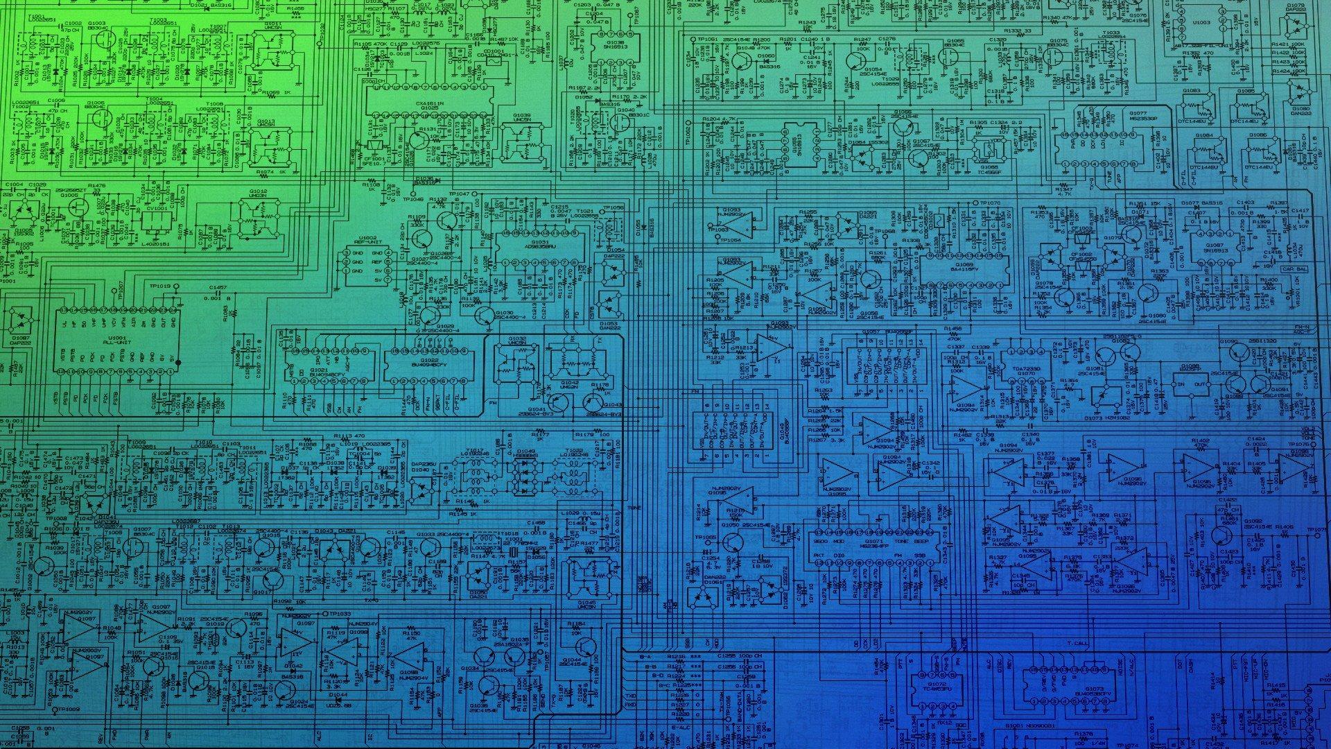 Microchip  Schematic  Cpu  Technology  Blueprints Hd