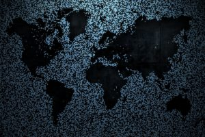 pixelated, World map, Map, Metal, Noisy
