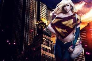 Artgerm, Supergirl, Superhero, City
