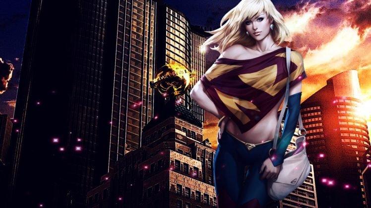 Artgerm, Supergirl, Superhero, City HD Wallpaper Desktop Background