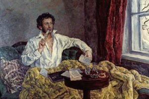 Alexander Pushkin, Painting, Classic art, Feathers, Men, Blankets, Paper, Table, Window