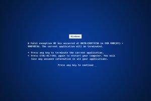 Microsoft Windows, Blue Screen of Death, Errors, Window, Blue, Windows Errors