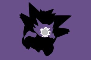 Pokemon, Ghastly, Haunter, Gengar, Simple background, Minimalism, Evolution
