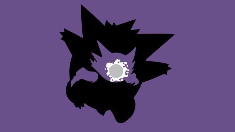 Pokemon, Ghastly, Haunter, Gengar, Simple background, Minimalism, Evolution HD Wallpaper Desktop Background