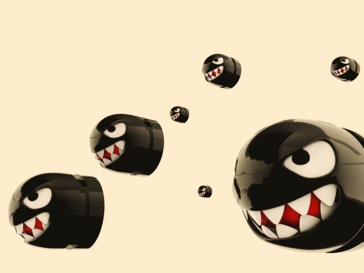Bullet Bill, Super Mario Bros., CGI HD Wallpaper Desktop Background