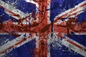 flag, British flag, Paint splatter
