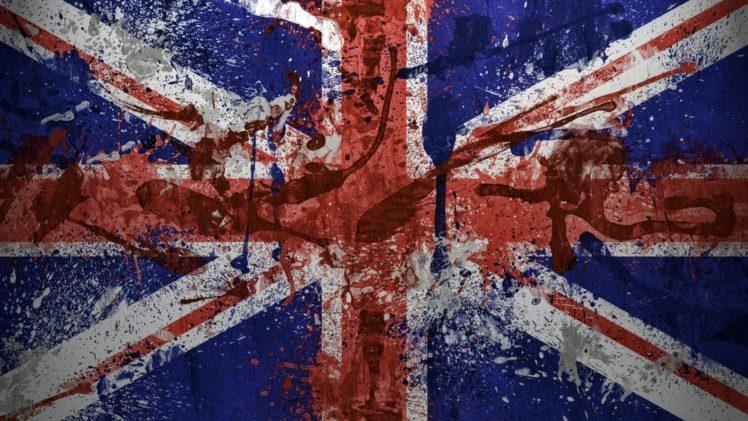 Flag British Flag Paint Splatter Hd Wallpapers Desktop