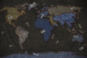 map, Denim, Vladstudio