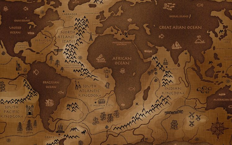 Vladstudio Map Inverted World map HD Wallpapers Desktop and