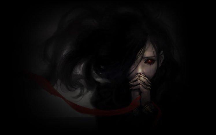 horror, Blacked out eyes HD Wallpaper Desktop Background