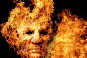 horror, Fire, Face