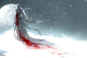 snow, Blood