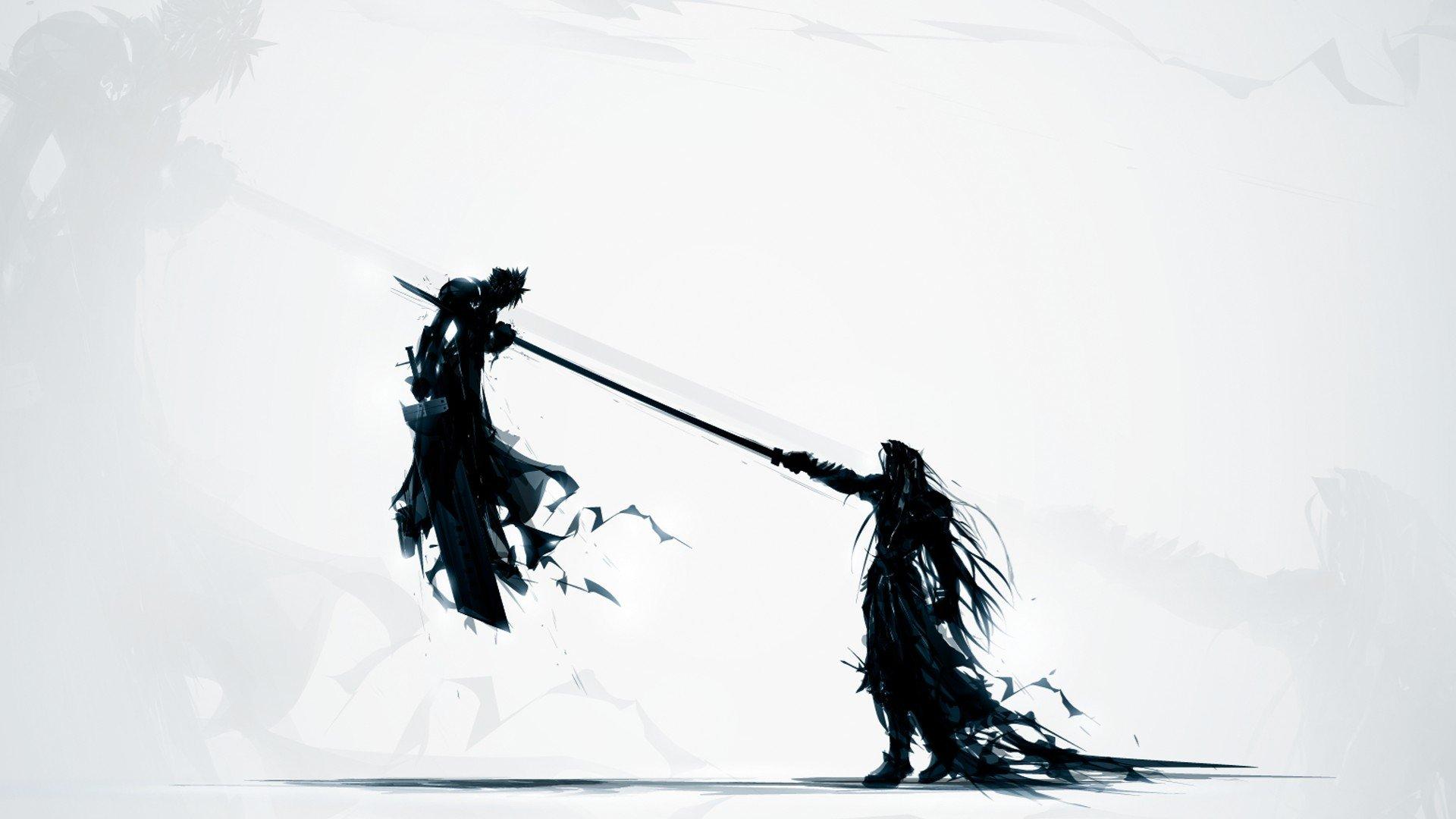 Final Fantasy Cloud Strife Sephiroth Hd Wallpapers Desktop And
