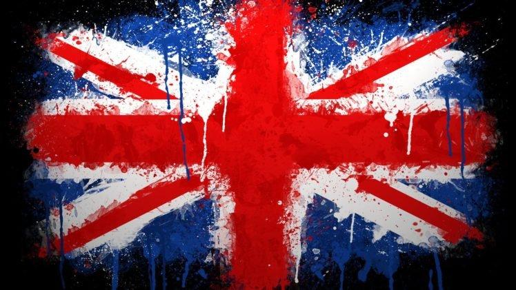 Uk Flag Union Jack Paint Splatter British Flag Hd