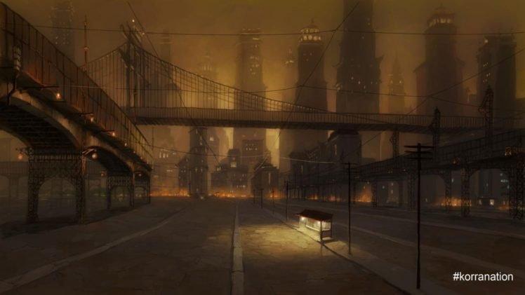 The Legend of Korra, Republic City, Bridge HD Wallpaper Desktop Background