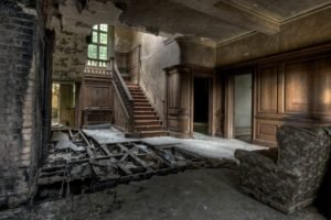 ruin, Interiors, Building, Abandoned
