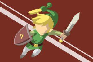The Legend of  Zelda: Minish Cap, Vector art, Red, Green, Link, Triforce