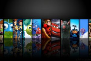 Pixar Animation Studios, Toy Story, A Bugs Life, Toy Story 2, Monsters, Inc., Ratatouille, WALL·E, Toy Story 3, Finding Nemo, Reflection