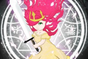 Child of Light, Aurora, Anime girls, Lights, Sword