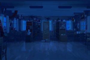 night, Library, Everlasting Summer, Chair, Literature, ArseniXC
