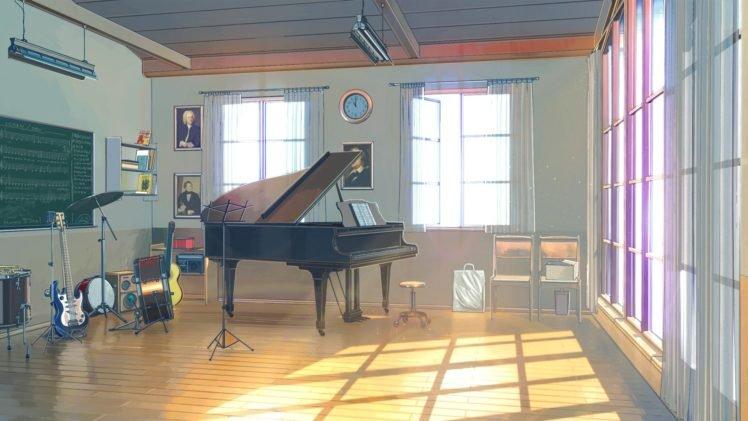 Everlasting Summer, Piano, Clocks, Guitar, Drums, ArseniXC, Sunlight, Musical instrument HD Wallpaper Desktop Background