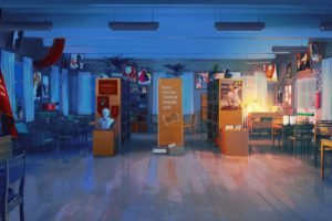 library, Chair, Literature, Everlasting Summer, ArseniXC