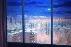 night, Snow, Everlasting Summer