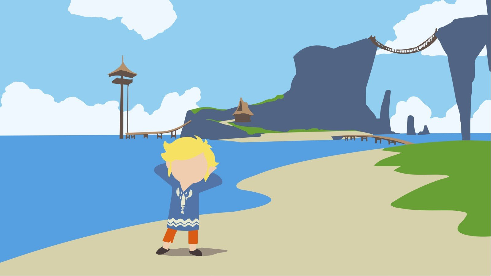Vector Art The Legend Of Zelda Wind Waker Hd Wallpapers