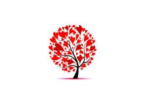 trees, Hearts, White tops