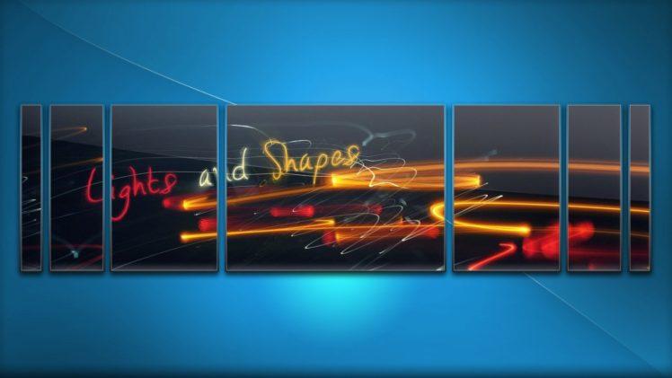 blue, Lights HD Wallpaper Desktop Background