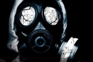 gas masks, Monochrome