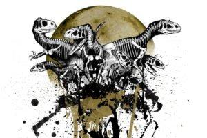 skull, Dinosaurs, Skeleton, Moon