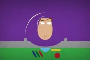 Buzz Lightyear, Toy Story, Blo0p, Astronaut, Minimalism