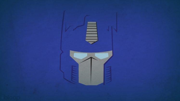 Optimus Prime, Blo0p, Minimalism HD Wallpaper Desktop Background