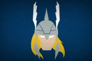 Thor, Minimalism, Superhero, Blo0p