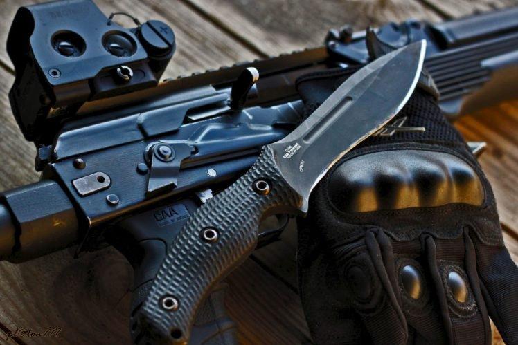 Zero Tolerance, Knife, Gun HD Wallpaper Desktop Background