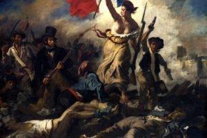 Delacroix, Painting, La Liberté guidant le peuple, Classic art