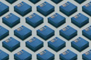 blue, Floppy disk