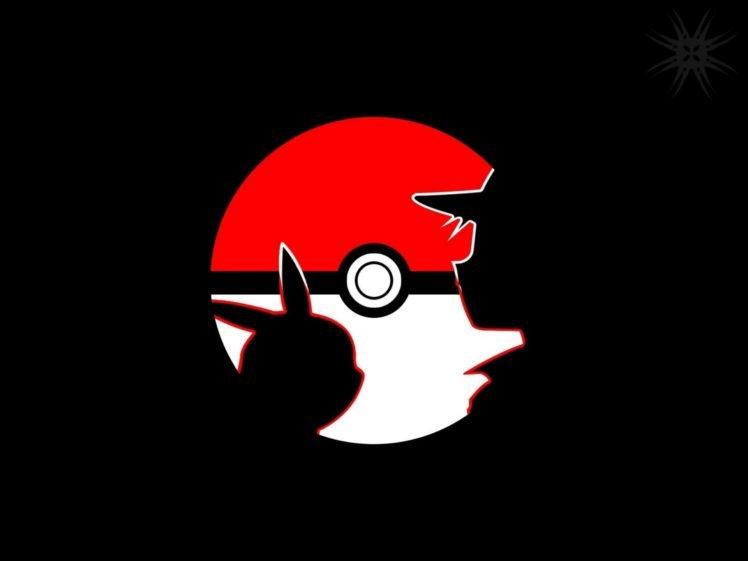 red, Pikachu, Pokéballs, Minimalism, Pokemon First Generation HD Wallpaper Desktop Background