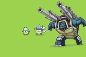 Pokemon, Squirtle, Wartortle, Blastoise
