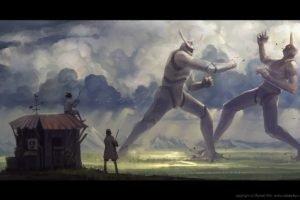 robot, Creature, Roboto kun, Fighting