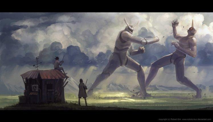 robot, Creature, Roboto kun, Fighting HD Wallpaper Desktop Background