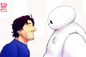 Markiplier, Mark Fischbach, Baymax (Big Hero 6), Big Hero 6, Drawing, Crossover