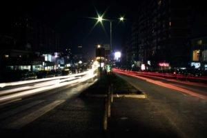 road, Long exposure