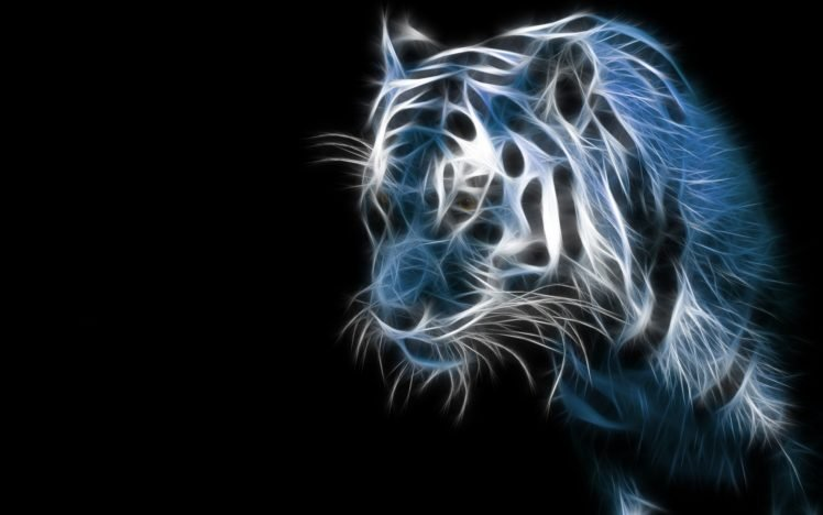 Fractalius, Tiger HD Wallpaper Desktop Background