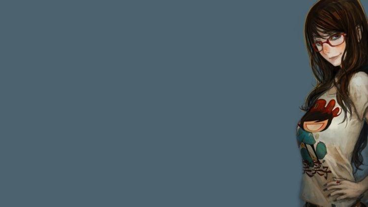 simple background, Glasses HD Wallpaper Desktop Background