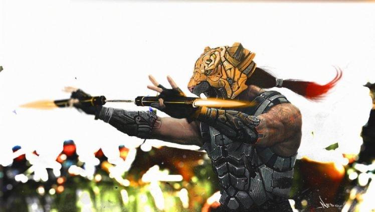 tiger, Warrior HD Wallpaper Desktop Background