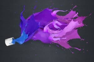 liquid, Splashes, Simple background, Paint splatter
